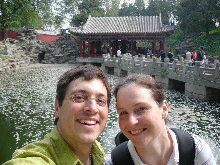 Greg & Nicole in Beihei Park, Beijing